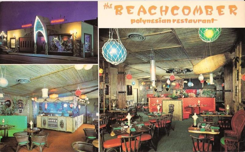 Oversized Postcard With Interior And Exterior Views From The Beachcomber In Victoria British Columbia Canada